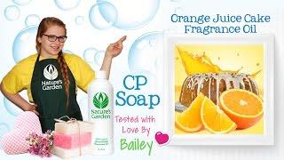 Soap Testing Orange Juice Cake Fragrance Oil- Natures Garden
