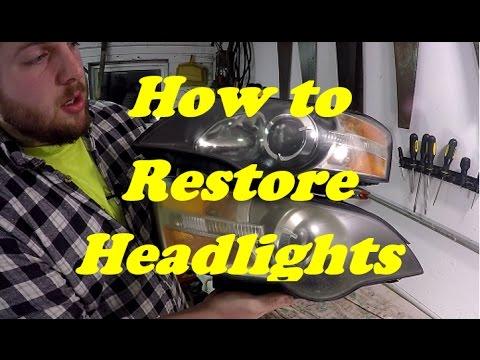 How to Restore Headlights!!