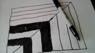 2 million dance studio)how to draw a simple 3d