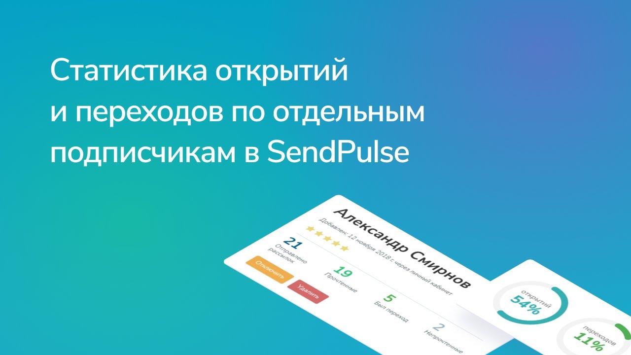 Как посмотреть статистику открытий и переходов по отдельным подписчикам в SendPulse