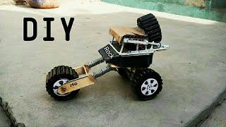 How to Make RC Rock Crawler car, DIY Monster Truck, mini Rock Truck