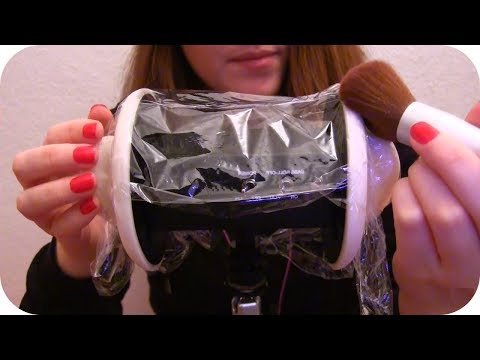 {BINAURAL ASMR} Touching & Brushing Plastic Wrap On Your Ears *No Talking*