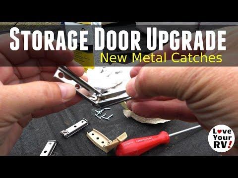 basement-rv-storage-door-upgrade---metal-catches