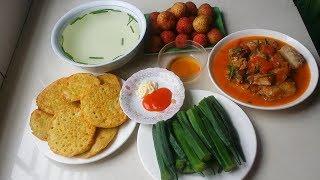 cách nấu bữa cơm gia đình đầy đủ dinh dưỡng ngon.