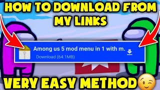 ☺How To Downlaod Files From My Links || Very Easy Method To Downlaod From My Links🔥😉 || Must Watch