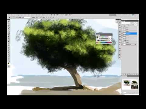 Painting Trees Tutorial By Sickbrush Youtube