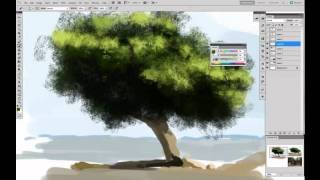 Painting trees tutorial by Sickbrush