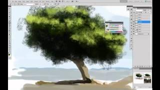 Painting trees tutorial by Sickbrush