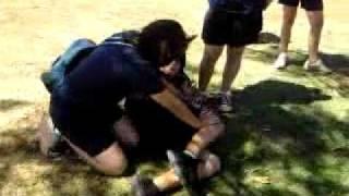 Edward gets beat up by Kim(bonus frosty).Part 1