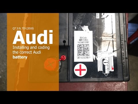 Installing and coding the correct VW/Audi battery - YouTube