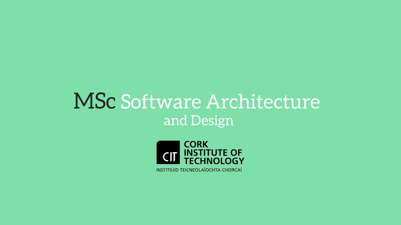 Cit Online Master Of Science In Software Architecture Design