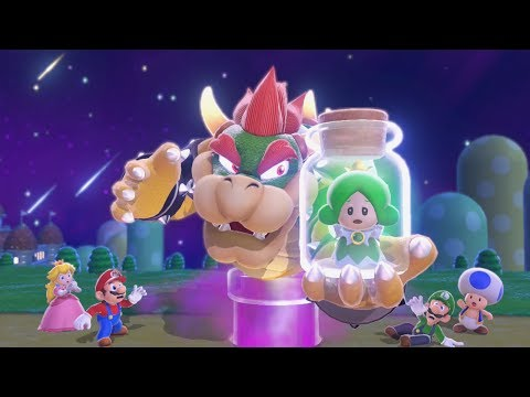 Super Mario 3D World 100% Co-Op Walkthrough - World 1 (All Green Stars And Stamps)