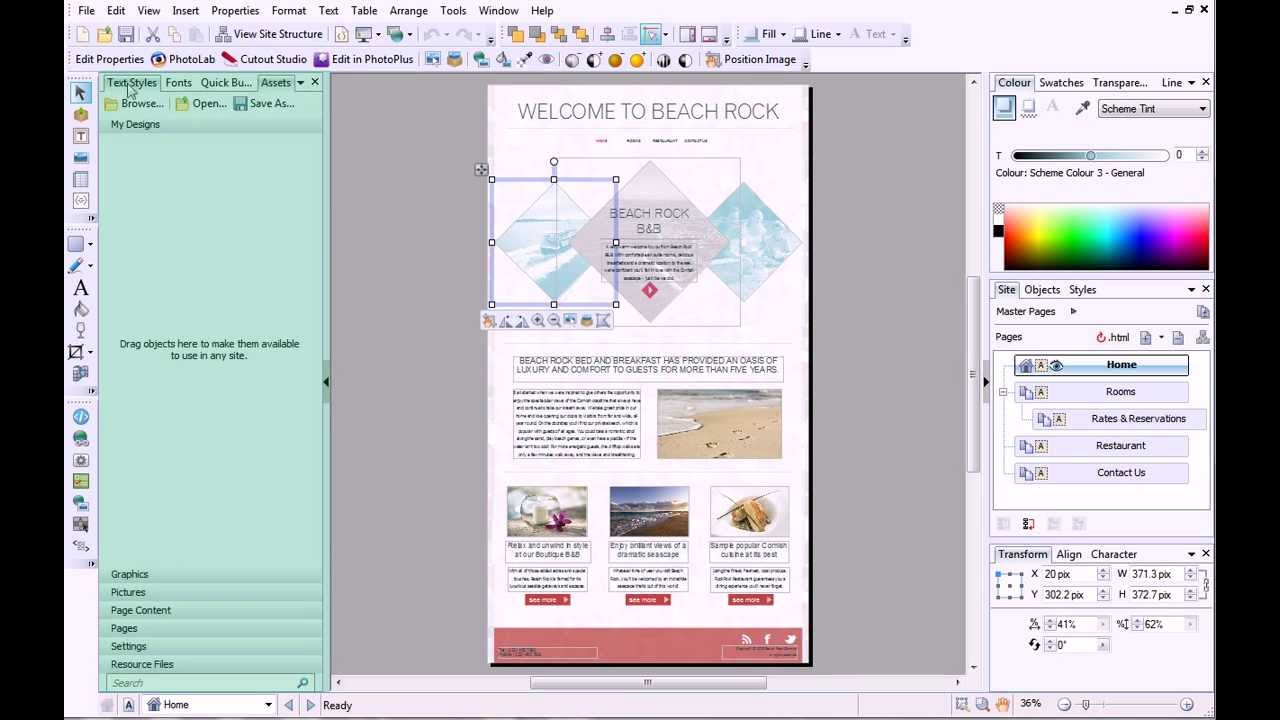 Serif Webplus X7 Tutorial