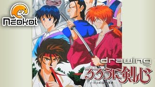 Drawing Rurouni Kenshin   Dibujando Samurai X