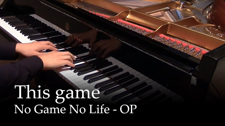 this game  no game no life op piano