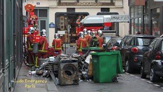 Pompiers de Paris incendie appart  Paris Fire Dept on scene,  Apartment Fire 2019