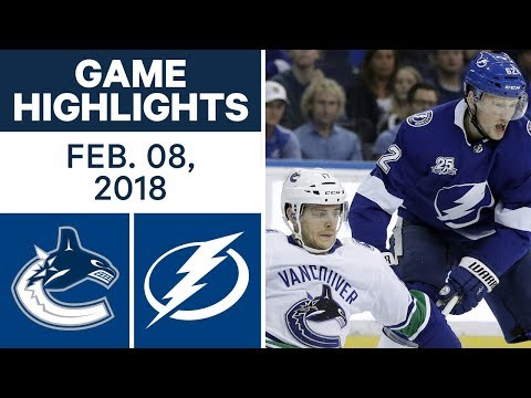 NHL Game Highlights | Canucks vs. Lightning - Feb. 8, 2018