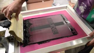 Screen Printing - One Color Screen Print with Plastisol Ink