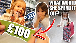 WE GAVE OUR TODDLER £100!! WHAT WILL SHE SPENT IT ON? SHOPPING CHALLENGE