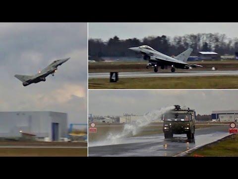 Volo Prova Eurofighter Typhoon e Dimostrazione Antincendio | Aeroporto Militare Cameri