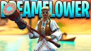New Fortnite DreamFlower Skin Gameplay..