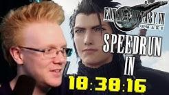 Final Fantasy VII Remake SpeedRun In 10:30:16