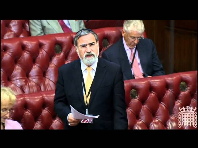 Chief Rabbi Lord Sacks speaks on interfaith dialogue in multicultural Britain