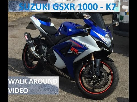 suzuki gsxr 1000 k7 specifications walk around onboard. Black Bedroom Furniture Sets. Home Design Ideas