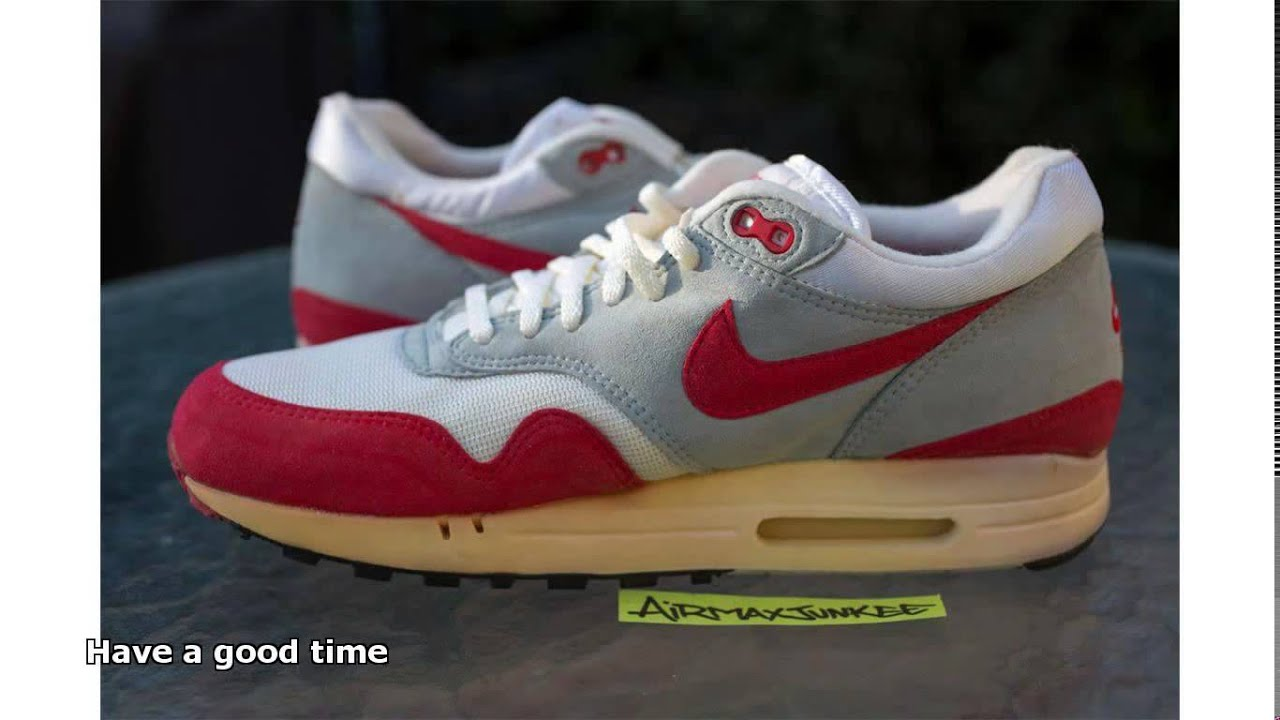 outlet store f9054 fd51c nike air max 1 1987 - YouTube