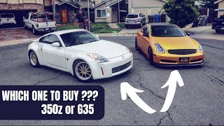 Which one should you buy ? 350z or G35 ?