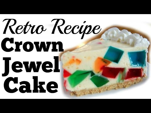 JELLO Crown JEWEL Cake | Broken Window Glass | RETRO RECIPE TEST