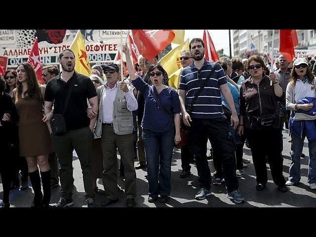 Греки бастуют из-за пенсионной реформы