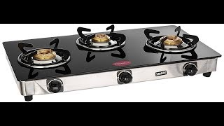 Pigeon Blackline Smart gas stove 3 burners | UNBOXING by ASRA'S Kitchen