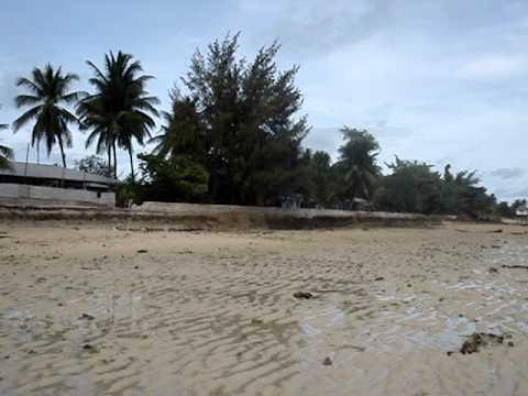 Kiribati,Tarawa - Betio Beach view SPMS Home