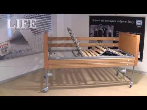 Letto per anziani disabili aurora letto con sponde per anziani disabili ad altezza variabile - Sponde letto per anziani ...
