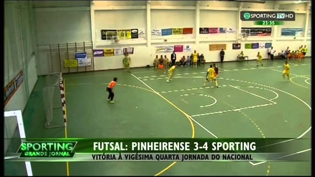 Futsal :: 24J :: U. Pinheirense - 3 x Sporting - 4 de 2014/2015