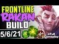 FRONTLINE RAKAN SUPPORT BUILD | NEW RUNES Rakan vs Janna SUP | SUPPORT Ranked Gameplay SEASON 8