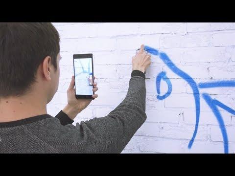 SketchAR with Tango Technology-Lenovo Phab 2 Pro. Drawing using augmented reality.