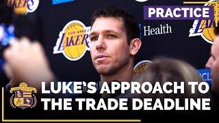 Luke Walton Discusses Lonzo Ball Update, Approach To NBA Trade Deadline