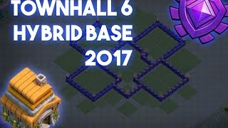 Clash of Clans Town Hall 6 Defense (TH6) BEST Hybrid Base Layout Defense Base