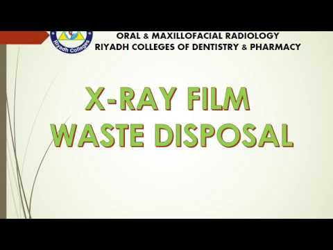 X RAY FILM WASTE DISPOSAL