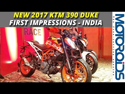 New 2017 KTM 390 Duke Walkaround, First Impressions and Features LIst