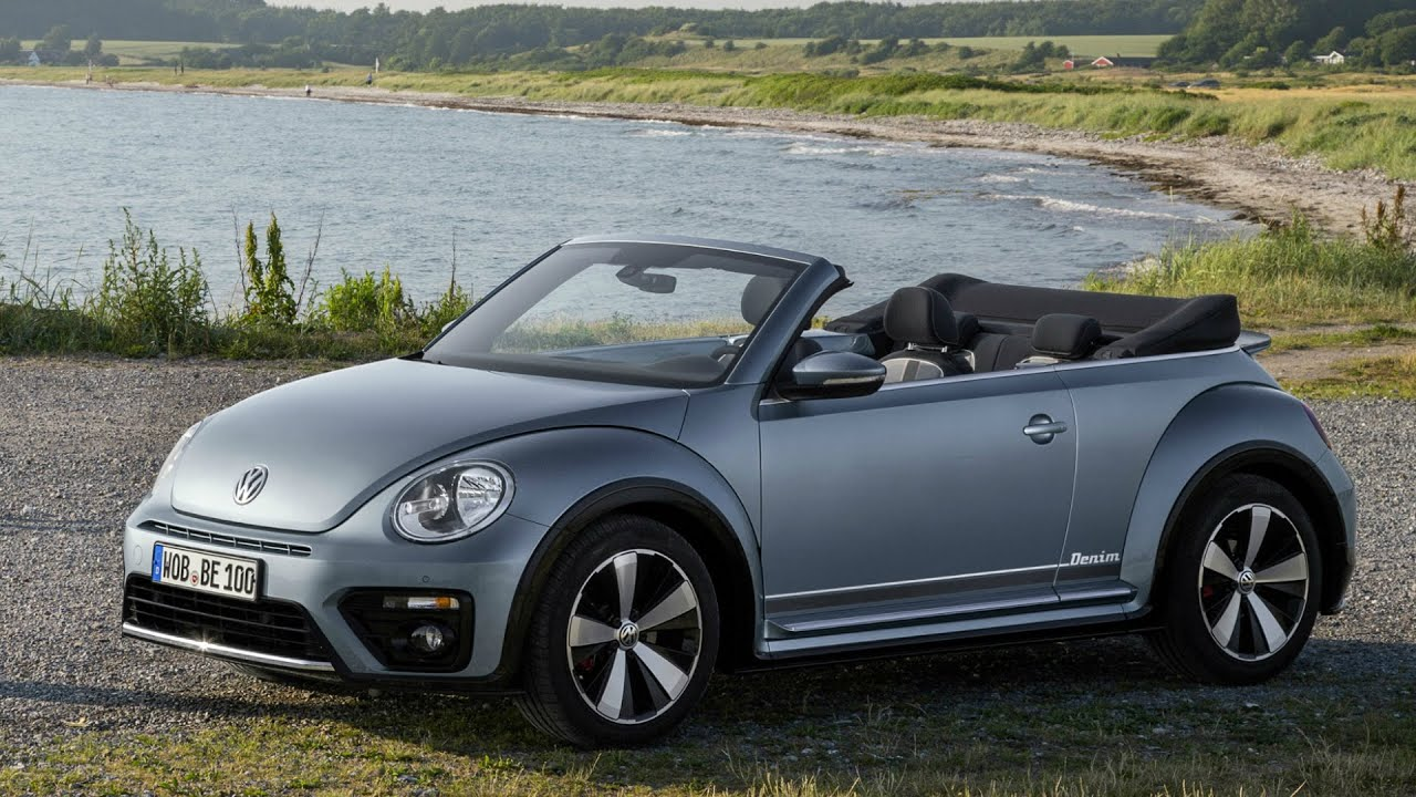 2017 vw beetle cabriolet denim interior exterior and drive youtube. Black Bedroom Furniture Sets. Home Design Ideas