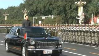 01 President HU Jintao Reviews Chinese Troops [China