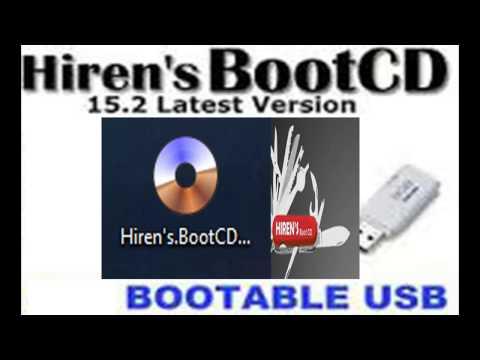 como instlar Hiren's Boot CD 15.2 y ponerlo en usb bootable