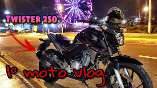 1º moto vlog do canal (teste) cb twister 2018