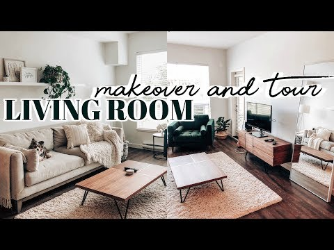 Apartment Living Room Makeover & Tour | 2019