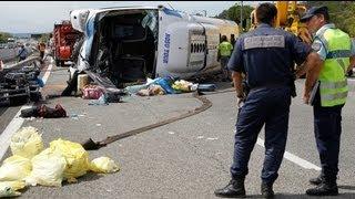 قتيل وأربعين جريحا بحادث سير في جنوب فرنسا