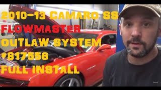 2010 - 2013 Camaro SS Flowmaster Outlaw System 817556 Full Install