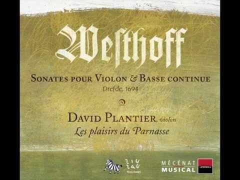 """WESTHOFF - Sonate N°2 en La mineur """"Imitatione del liuto"""" - Les Plaisirs du Parnasse"""